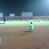 Photo taken at Stadion Gelora Bangkalan by Agnovi Az Zahra on 5/17/2014