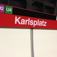 Photo taken at U Karlsplatz by Martin O. on 11/8/2012