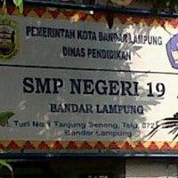 Photo taken at Smp 19 Bandar Lampung by Petrix S. on 10/18/2012