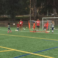 Photo taken at Griffith Park - Artificial Turf Soccer Field by Chris B. on 8/15/2017