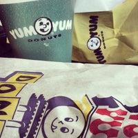 Photo taken at Yum Yum Donuts by Amanda D. on 7/21/2013
