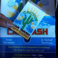 Photo taken at Cactus Car Wash by Miss N. on 10/17/2013
