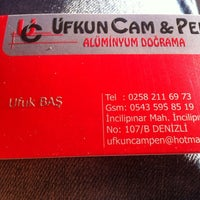 Photo taken at ufkun cam pen by Oğuzhan Ş. on 7/1/2014