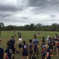 Photo taken at Austin Rugby at Burr Field by Daniel I. on 10/31/2015