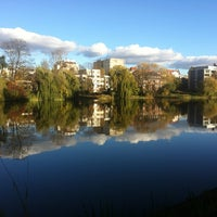 Photo taken at Lietzensee by Ulrike H. on 10/28/2012
