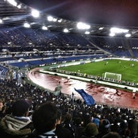 Photo taken at Stadio Olimpico by Valeria B. on 2/2/2013
