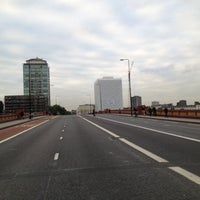 Photo taken at Vauxhall Bridge by Sean S. on 10/10/2012