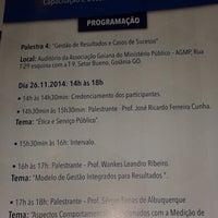 Photo taken at Associação Goiana Do Ministério Público (AGMP) by Morian M. on 11/26/2014