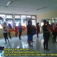 Photo taken at GOR Radio Dalam by Kampung Seni Y. on 3/23/2015