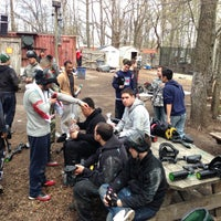 Photo taken at Cousins Paintball Staten Island by Erick R. on 4/20/2013