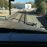 Photo taken at Railroad Crossing - New York & Pine by Bob G. on 11/6/2016