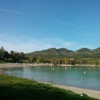 Photo taken at Lac de Peyrolles by Lilia D. on 10/19/2014