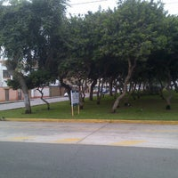 Photo taken at Parque Gonzales Prada by Oz S. on 5/28/2013