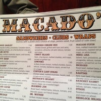 Photo taken at Macado's Restaurant and Bar by David W. on 4/27/2013