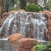 Photo taken at The Mirage Waterfall by Curtis C. F. on 12/1/2012