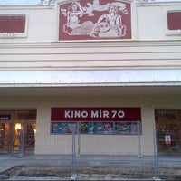 Photo taken at Kino Mír 70 by Adam A. on 8/23/2014