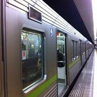 Photo taken at 岩本町駅 1-2番線ホーム by Masashi O. on 4/4/2015