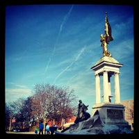 Photo taken at Francis Scott Key Monument by Olivia O. on 4/7/2013