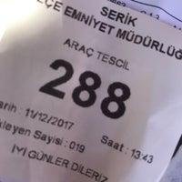 Photo taken at Serik İlçe Emniyet Müdürlüğü by Ayşe Gül K. on 12/11/2017