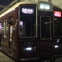 Photo taken at 池田駅 1-2号線ホーム by 大河阪急@HK-08 on 9/9/2015