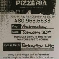 Photo taken at Jimmy & Joe's Pizzeria by Melanie F. on 1/20/2016