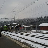 Photo taken at Bahnhof Langnau i.E. by Yuri L. on 11/30/2012