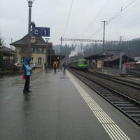 Photo taken at Bahnhof Langnau i.E. by Yuri L. on 11/28/2012