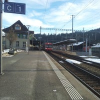 Photo taken at Bahnhof Langnau i.E. by Yuri L. on 12/24/2012