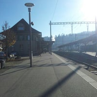 Photo taken at Bahnhof Langnau i.E. by Yuri L. on 11/19/2012