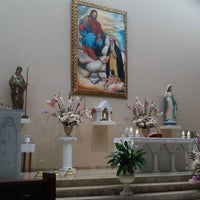 Photo taken at Parroquia Santa Rosa J.C.T by Yvis on 11/4/2012