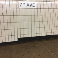 Photo taken at MTA Subway - 7th Ave (B/Q) by Scott Kleinberg on 6/12/2017