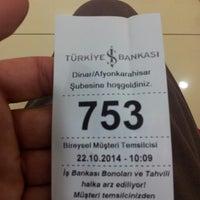 Photo taken at Türkiye İş Bankası by Barış on 10/22/2014