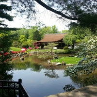 Photo taken at Shofuso Japanese House and Garden by Phil G. on 5/10/2013