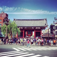 Photo taken at Kaminarimon Gate by Hakobune T. on 6/2/2013