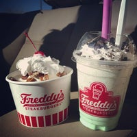 Photo taken at Freddy's Frozen Custard & Steakburgers by Kim L. on 2/24/2013