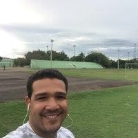 Photo taken at Complejo Deportivo Hermanos Suarez by Ramon M. on 9/24/2016