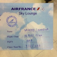 Photo taken at Sky Team Alliance - Skylounge by Nasheed A. on 11/2/2012