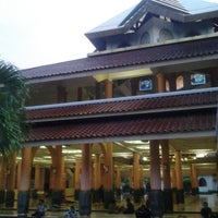 Photo taken at Masjid Kampus UGM by Ek S. on 12/29/2012