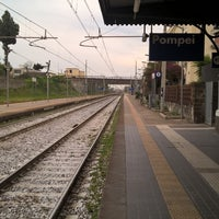 Photo taken at Stazione di Pompei by Dmitry S. on 4/28/2016
