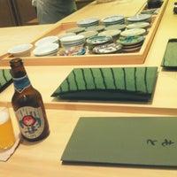Photo taken at 스시 마츠모토 (すし まつもと) by eunsu n. on 6/18/2012