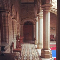Photo taken at Bangalore Palace by NayAnesh G. on 7/20/2013
