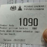 Photo taken at Pejabat Tanah Daerah Gombak by Ruben R. on 2/28/2017