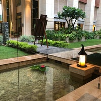Photo taken at Pool @ ITC Royal Gardenia by Kushal S. on 5/8/2018