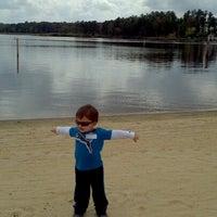 Photo taken at Lake Tobosofkee by Becky R. on 10/14/2012