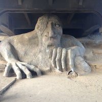 Photo taken at The Fremont Troll by Pete S. on 2/24/2013
