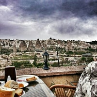 Photo taken at Sos Cave Hotel by Ufuk A. on 4/24/2016