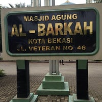 Photo taken at Masjid Agung AL-BARKAH Bekasi ® by InDy N. on 1/26/2014