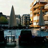 Photo taken at Club Bayar Beach Hotel by Hatice Ş. on 9/1/2016