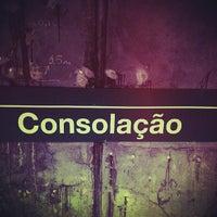 Photo taken at Consolação Station (Metrô) by adelmo v. on 6/24/2013
