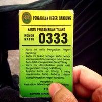 Photo taken at Pengadilan Negeri Bandung by Lucky B. on 10/17/2014
